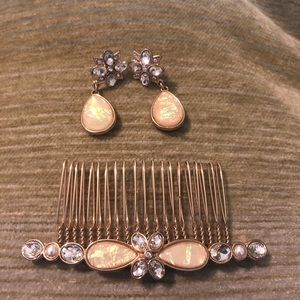 Earring with hair pendant